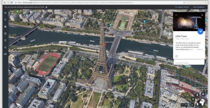 Google Earthilla voi tutkia maapalloa ja sen eri paikkoja.