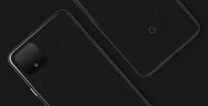 Pixel 4 -älypuhelin Googlen julkaisemassa kuvassa.