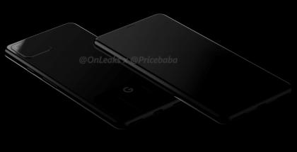 Google Pixel 4 -mallinnos. Kuva: OnLeaks / PriceBaba.