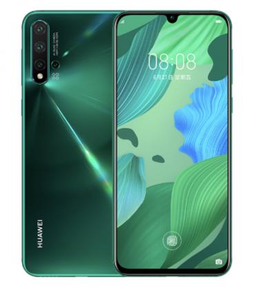 Huawei Nova 5 Pron yksi värivaihtoehto on vihreä.