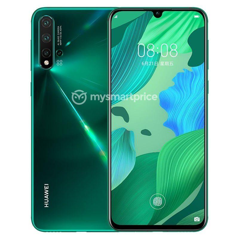 Huawei Nova 5 Pro vihreänä. Kuva: MySmartPrice.