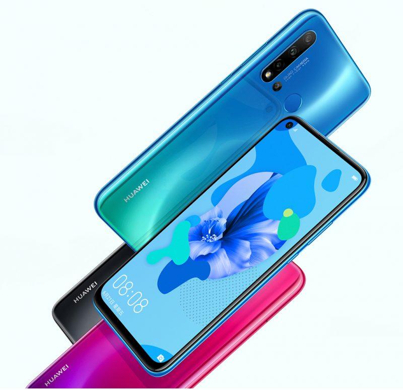 Huawei Nova 5i eri väreissä.
