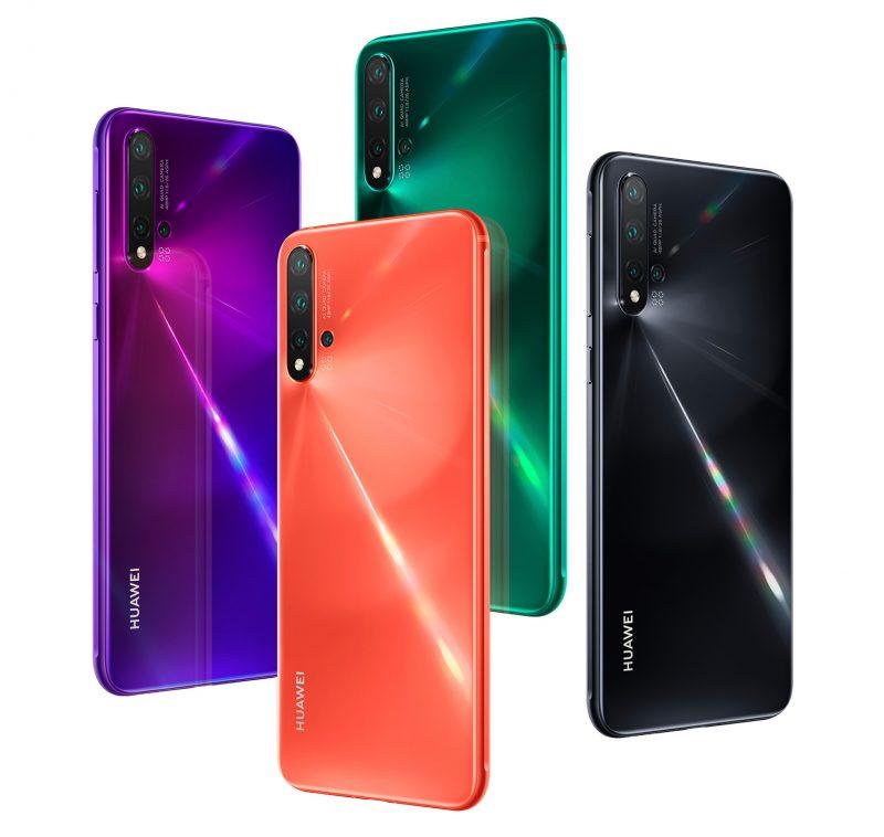 Huawei Nova 5 Pron värivaihtoehdot.