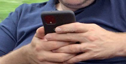 Ilmeinen Pixel 4 -älypuhelin suojakuoren sisällä. Kuva: 9to5Google.