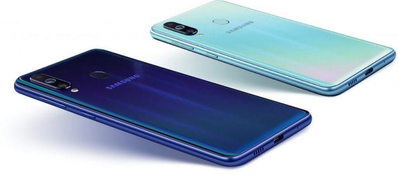 Samsung Galaxy M40:n värivaihtoehdot.