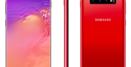 Samsung Galaxy S10+:n uusi punainen Cardinal Red -väri.