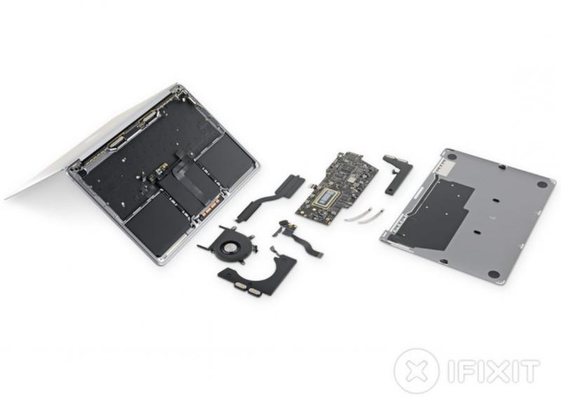 MacBook Pro iFixitin purkamana.