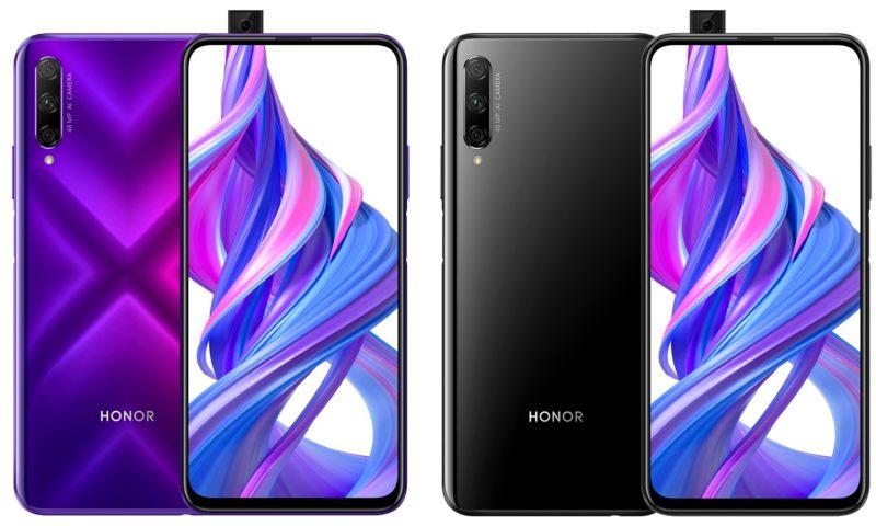 Honor 9X Pron värivaihtoehdot.