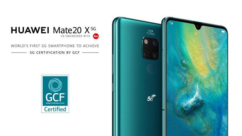Huawei Mate 20 X 5G sai GCF-sertifikaatin.