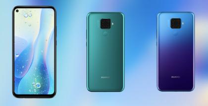 Huawei-uutuus on varustettu osaksi näyttöä upotetulla etukameralla sekä neljällä takakameralla.