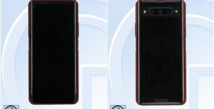 Tuleva nubia Z20 -älypuhelin TENAA-viranomaisen kuvissa.