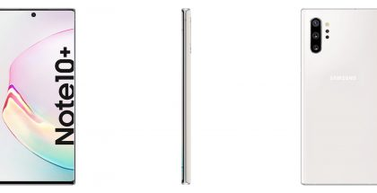 Samsung Galaxy Note10+ valkoisena Aura White -värinä. Kuva: Ishan Agarwal.