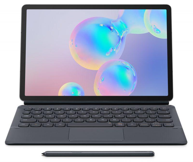 Galaxy Tab S6 yhdessä Book Cover Keyboard -näppäimistön kanssa.