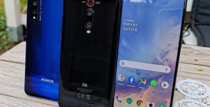 Honor 20, Xiaomi Mi 9T ja OnePlus 7.