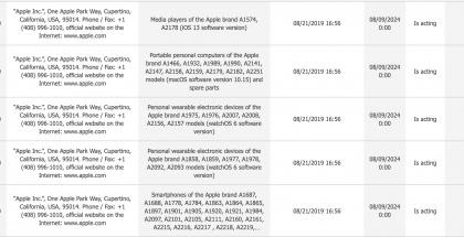 Apple rekisteröi Euraasian talouskomission tietokantaan sekä vanhoja että uusia, vielä tuntemattomia laitteita varustettuina uusilla iOS- ja macOS-versioilla.