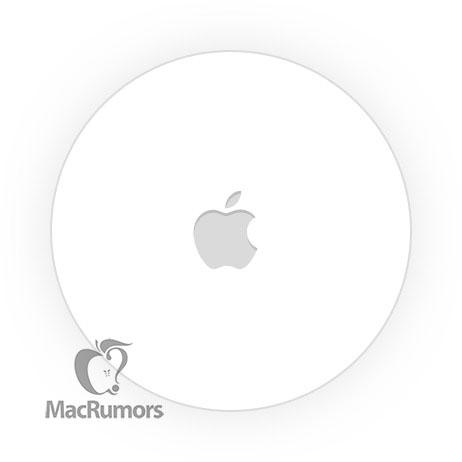 Mahdollinen kuva Applen paikannuslätkän yksinkertaisesta designista. Kuva: MacRumors.