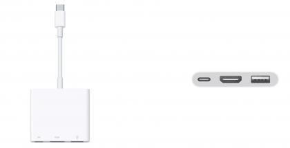 Uusi versio Applen USB-C-HDMI-sovittimesta.