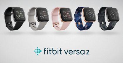 Fitbit Versa 2:n eri tyylivaihtoehtoja.