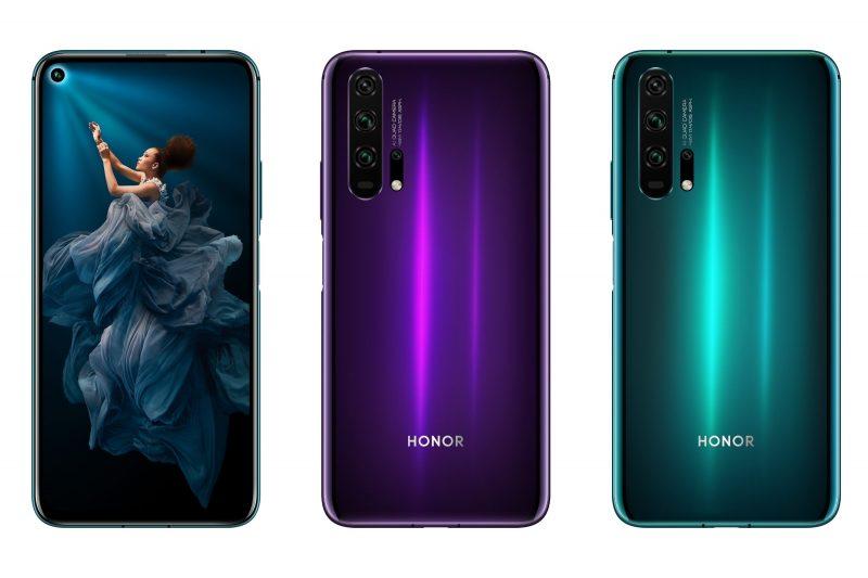 Honor 20 Pro ja sen kaksi värivaihtoehtoa.