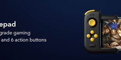 Honor GamePad-ohjaimessa on yhteensä kuusi painiketta sekä joystick-ohjain.