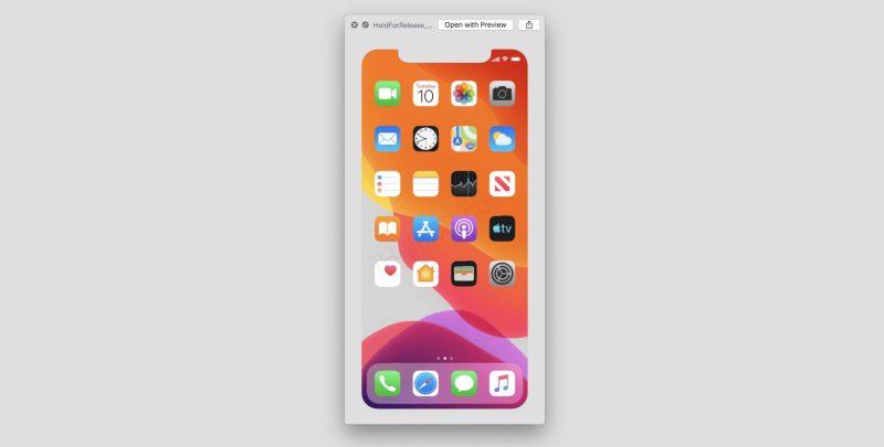 iOS 13:n beetatestiversiosta löytynyt kuva viittaa tiistaihin 10. syyskuuta.