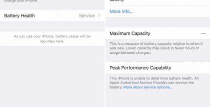 Uusimmissa iPhoneissa uuden rajoituksen käyttööntulon myötä ne eivät enää kerro asetuksissa akun kunnosta, jos akunvaihtoa ei ole suorittanut virallinen Apple-huolto.