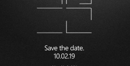 Microsoftin ilmoitus tilaisuudesta 2. lokakuuta.