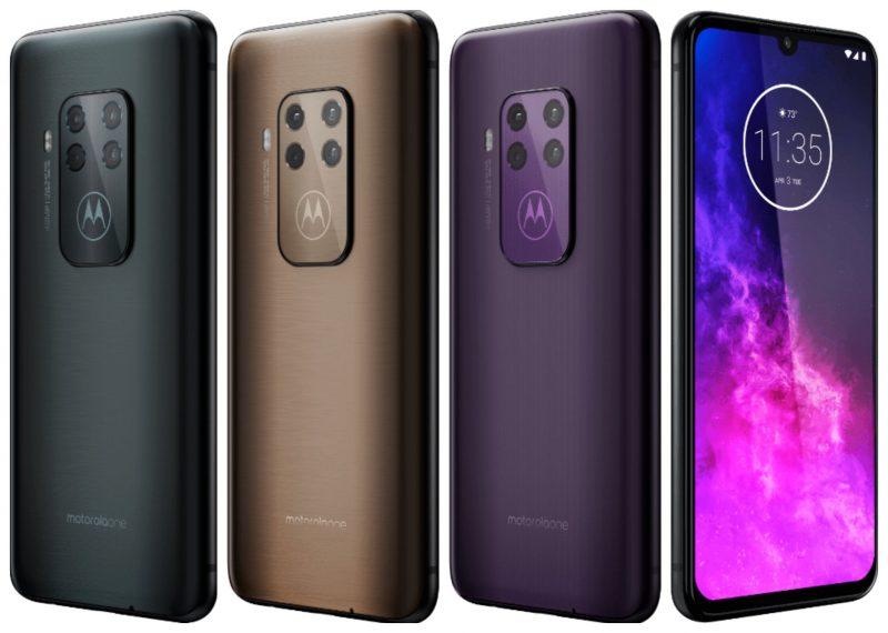 Motorola One Pro / One Zoom, eri värivaihtoehdot.