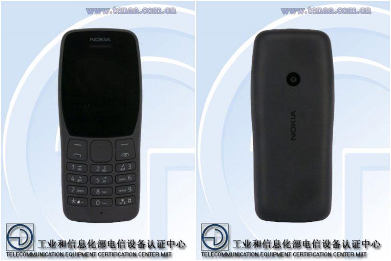 Uusi Nokia-peruspuhelin mallikoodilla TA-1192 Kiinan TENAA-viranomaisen kuvissa.