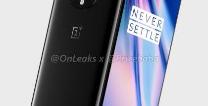 OnePlus 7T -mallinnos. Kuva: OnLeaks / Pricebaba.