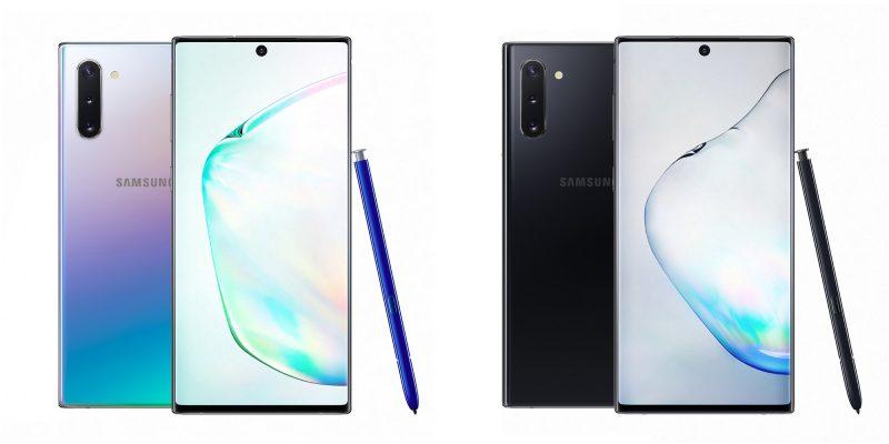 Samsung Galaxy Note10, Aura Glow ja Aura Black.