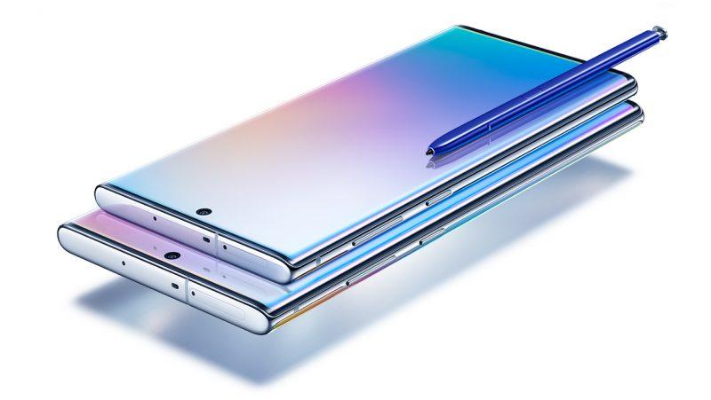 Samsung Galaxy Note10+, Galaxy Note10 ja niiden S Pen -kynä.