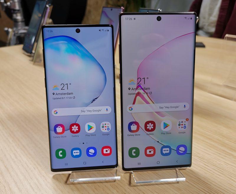 Viime syksyn Samsung Galaxy Note10 ja Galaxy Note10+.