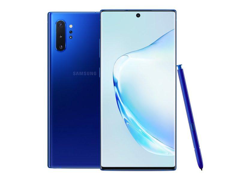 Samsung Galaxy Note10+ Aura Blue.