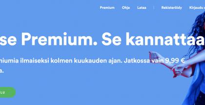 Spotify tarjoaa nyt 3 kuukauden kokeilun.