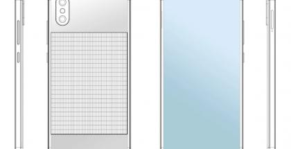Xiaomin aurinkopaneelipuhelin patenttihakemuksen kuvissa.