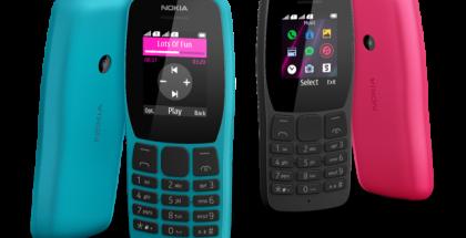Nokia 110 eri värivaihtoehtoina.
