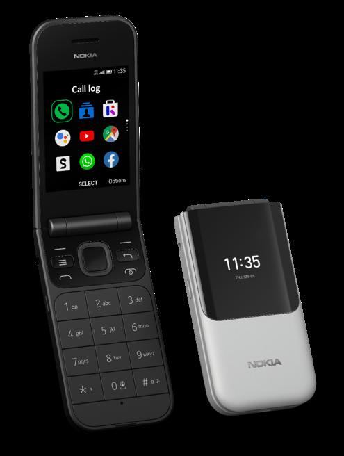 Nokia 2720 Flip on rakenteeltaan perinteinen simpukkapuhelin kansi- ja sisänäytöllä.