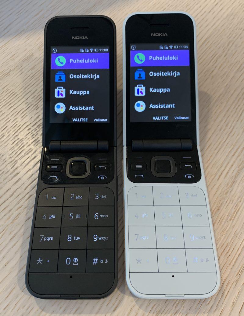 Nokia 2720 Flipin kaksi värivaihtoehtoa.