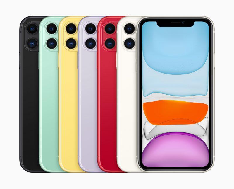iPhone 11:n värivaihtoehdot.