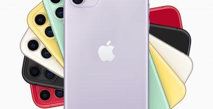 iPhone 11 eri väreissä.