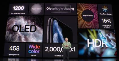 iPhone 11 Pro -mallit tarjoavat aiempaa paremman näytön.