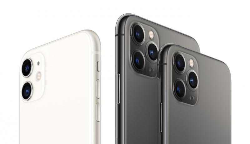 iPhone 11, iPhone 11 Pro Max ja iPhone 11 Pro.