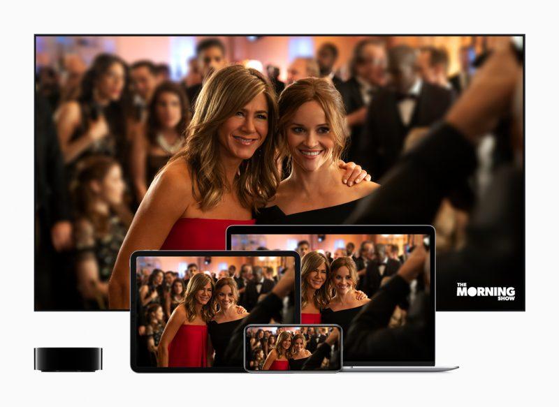 Jennifer Anistonin ja Reese Witherspoonin tähdittämä The Morning Show -draama lukeutuu Apple TV+:n ensimmäisiin sisältöihin.