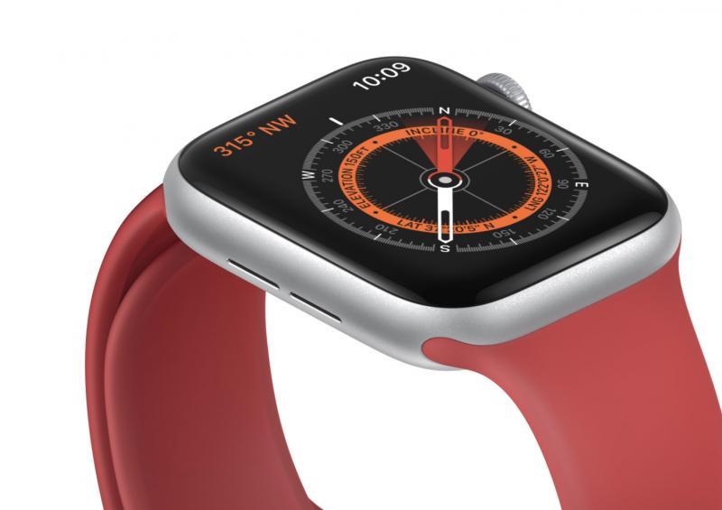 Apple Watch Series 5:n uudistuksia on kompassi.