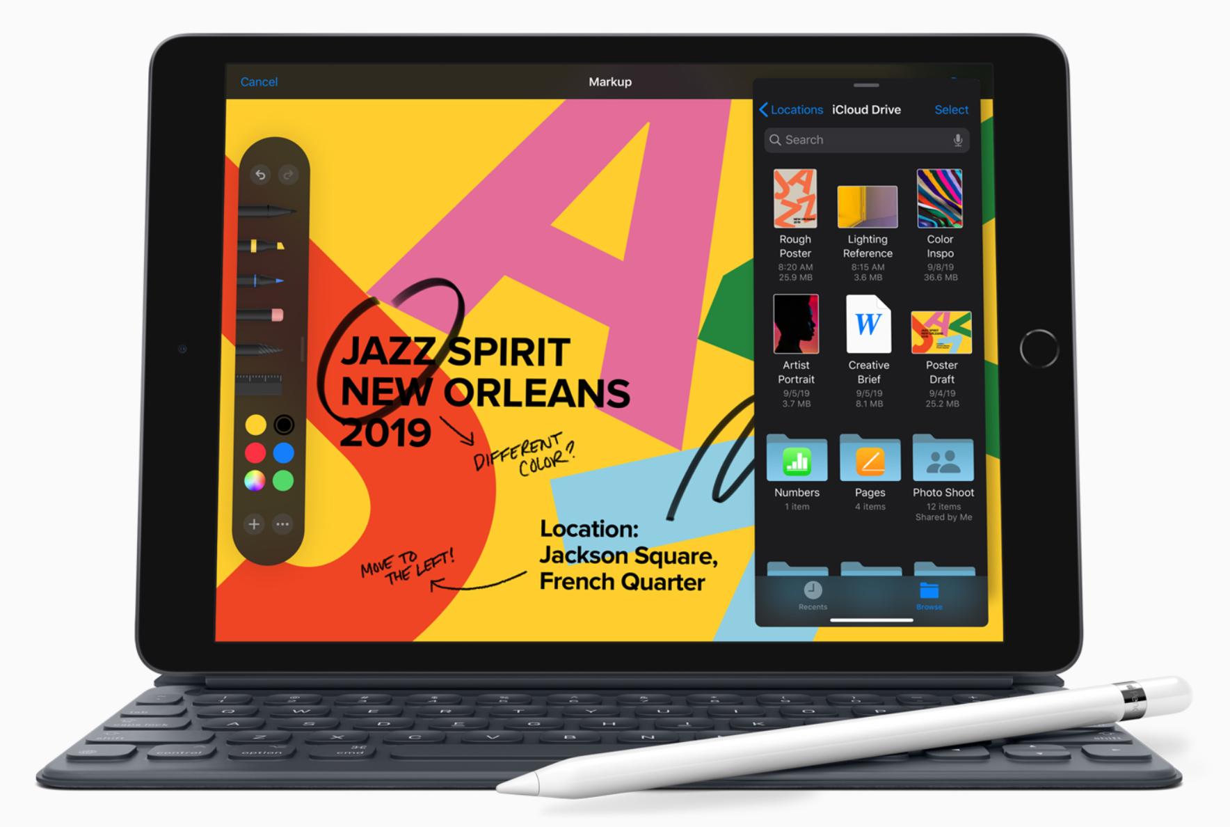iPad tukee erikseen myytävää Apple Pencil -kynää ja Smart Keyboard -näppäimistöä.