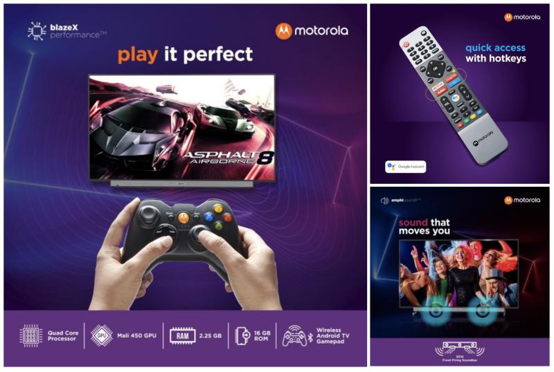 Motorola-televisiot tulevat kuudessa eri koossa.