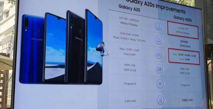 Samsung Galaxy A20s esiteltiin Malesiassa. Kuva: Amanz.my.