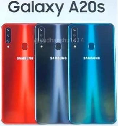 Galaxy A20s:n värivaihtoehdot.
