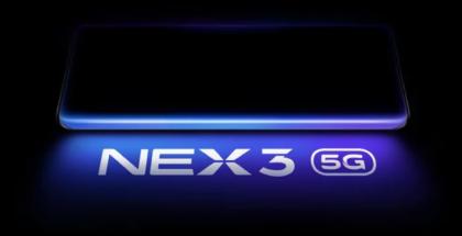 """Vivo NEX 3 on tulossa myös 5G-versiona. Puhelimen erikoisuus on sen huomattavasti kyljille kaartuva """"vesiputousnäyttö""""."""